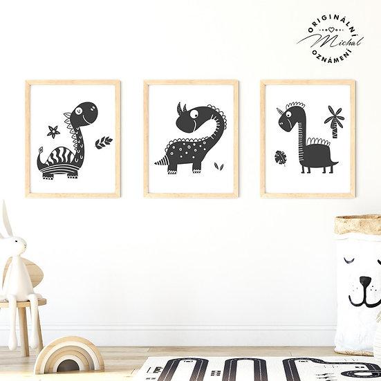 Plakát set dinosauři