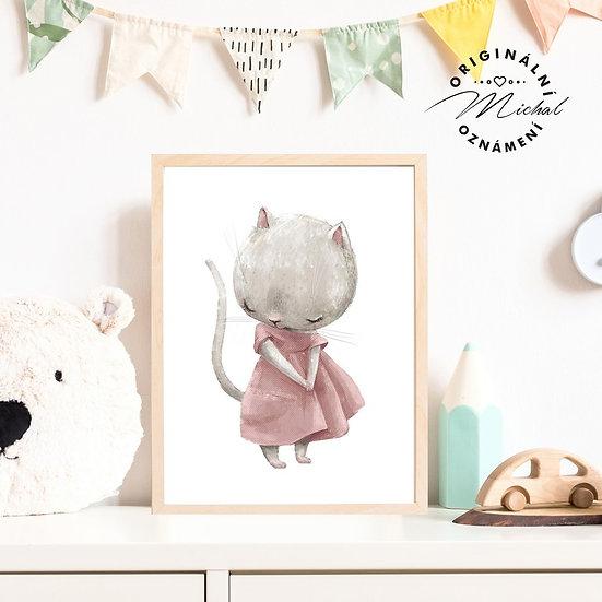 Plakát roztomilá kočička Tonička