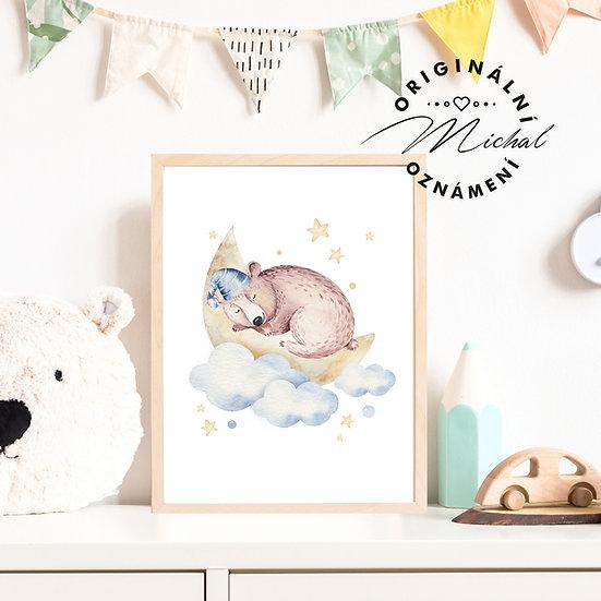 Plakát medvídek usínáček