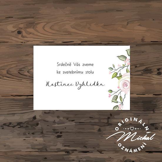 Pozvánka ke svatebnímu stolu - TYP 164