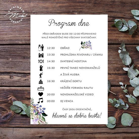 Svatební program - P03