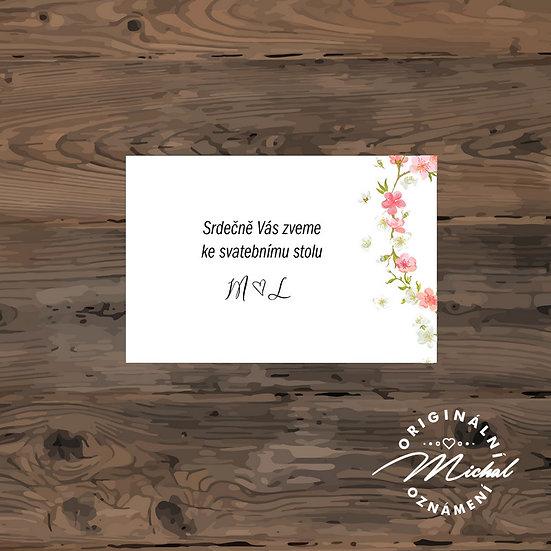 Pozvánka ke svatebnímu stolu - TYP 206