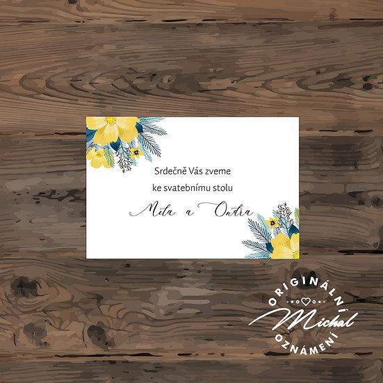 Pozvánka ke svatebnímu stolu - TYP 186