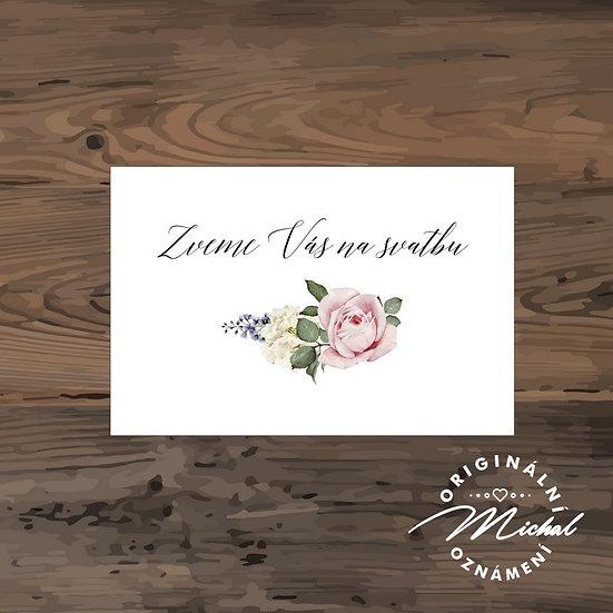 Pozvánka ke svatebnímu stolu - TYP 272
