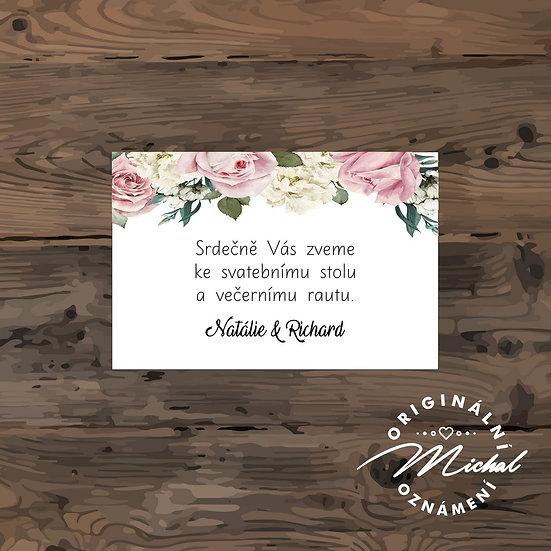 Pozvánka ke svatebnímu stolu - TYP 93