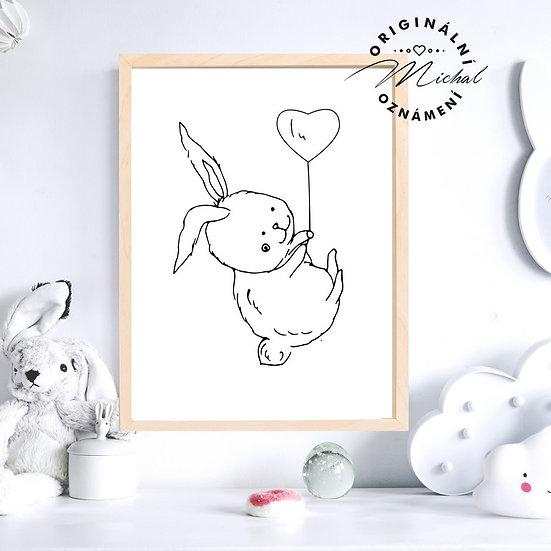 Plakát zajíček králíček nejroztomilejší