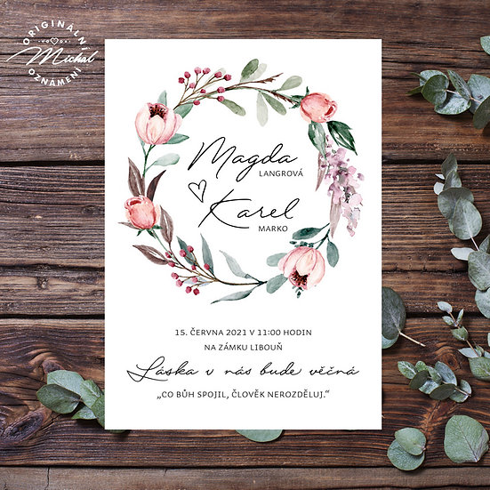 Svatební oznámení - TYP 312