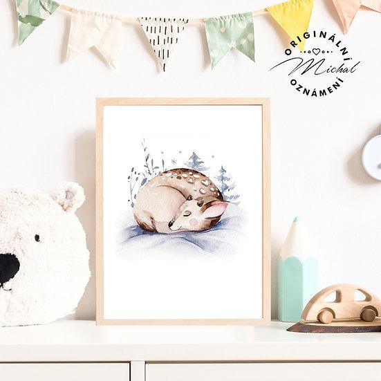 Plakát koloušek srnečka spinkající