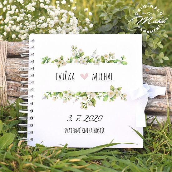 Svatební kniha hostů v pevných knižních deskách - 4