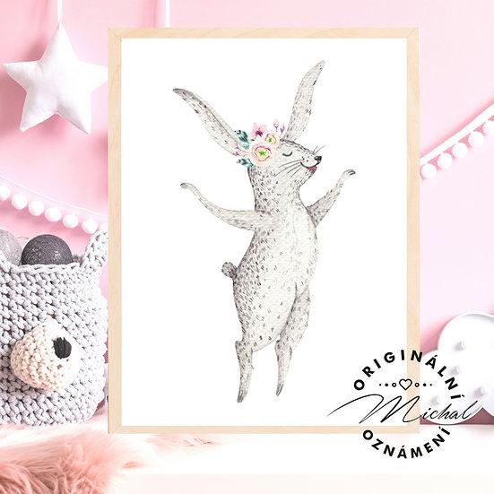 Plakát zajíček holčička 2