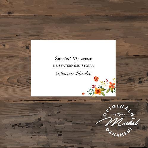 Pozvánka ke svatebnímu stolu - TYP 176
