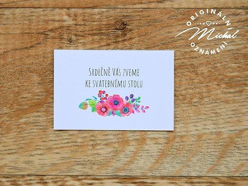 Pozvánka ke svatebnímu stolu - TYP 57