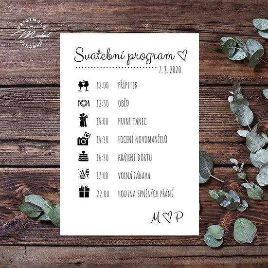 Svatební program - P05