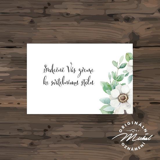 Pozvánka ke svatebnímu stolu - TYP 303