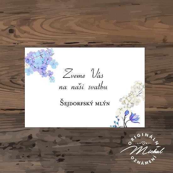 Pozvánka ke svatebnímu stolu - TYP 160