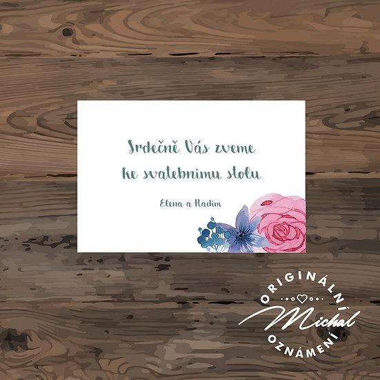 Pozvánka ke svatebnímu stolu - TYP 70