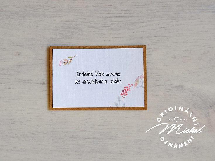 Pozvánka ke svatebnímu stolu - TYP 25
