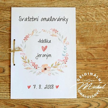Svatební omalovánky