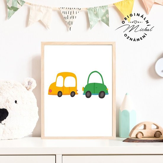 Plakát auta pro kluky
