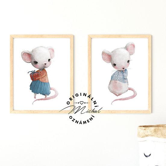 Plakát set myška a myšák