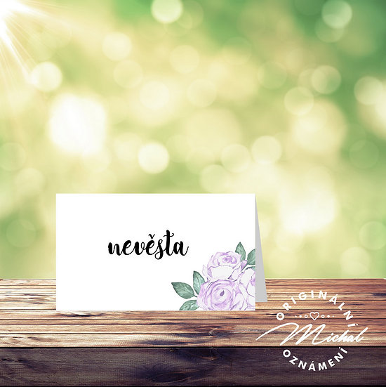 Svatební jmenovka, zasedací pořádek svatba