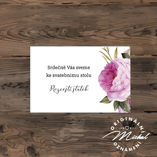 Pozvánka ke svatebnímu stolu - TYP 187