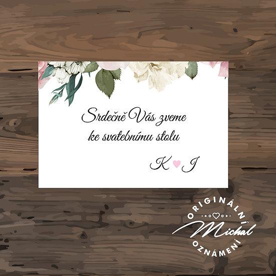 Pozvánka ke svatebnímu stolu - TYP 198