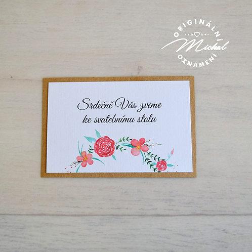 Pozvánka ke svatebnímu stolu - TYP 02