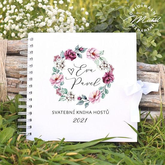Svatební kniha hostů v pevných knižních deskách - 53