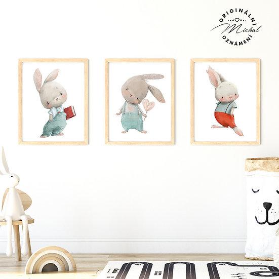 Plakát zajíčkové vykukové set