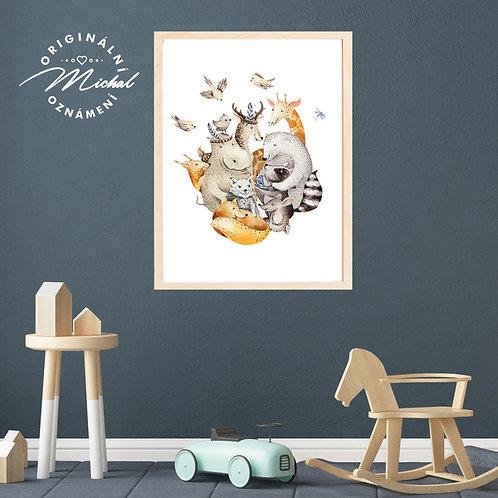 Plakát zvířátka kamarádi
