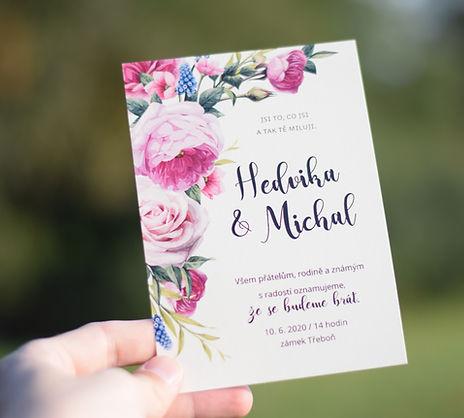 Svatební oznámeí