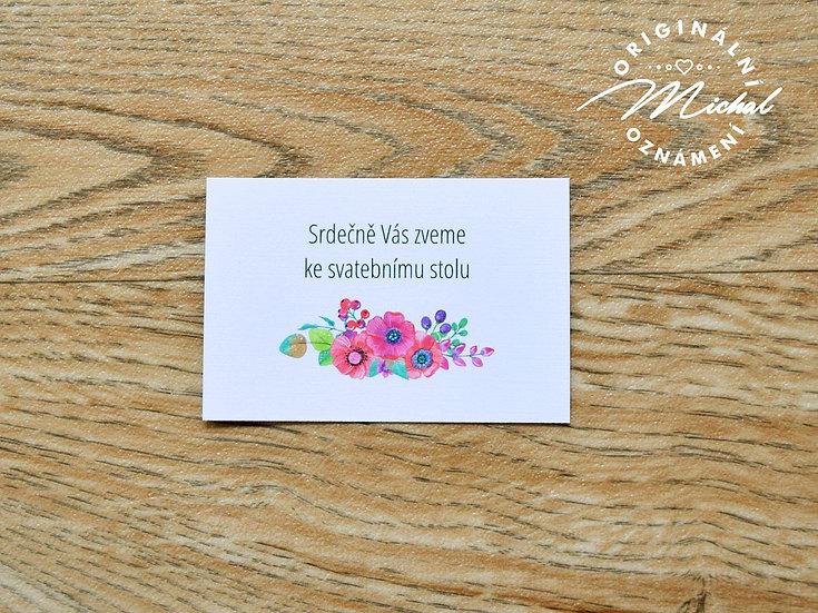 Pozvánka ke svatebnímu stolu - TYP 55