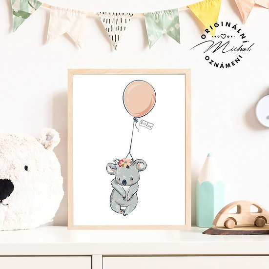 Plakát koala s balonkem