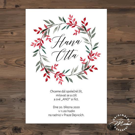 Svatební oznámení - TYP 276