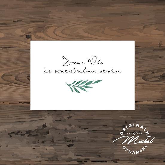 Pozvánka ke svatebnímu stolu - TYP 288