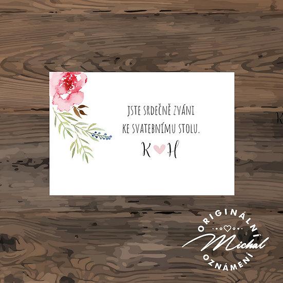 Pozvánka ke svatebnímu stolu - TYP 240