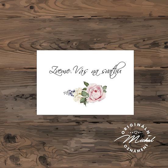 Pozvánka ke svatebnímu stolu - TYP 204