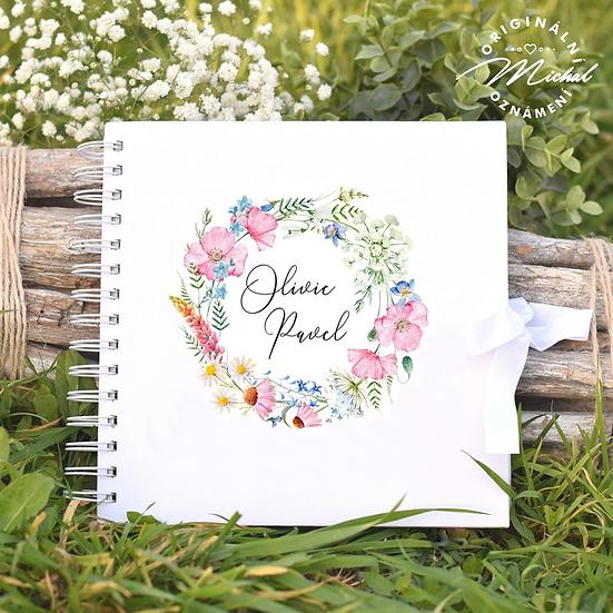 Svatební kniha hostů v pevných knižních deskách -31
