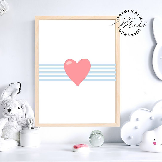Plakát srdce mořský svět