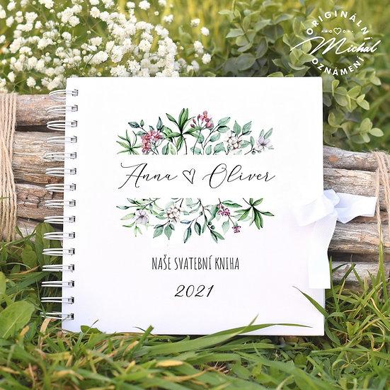 Svatební kniha hostů v pevných knižních deskách - 41