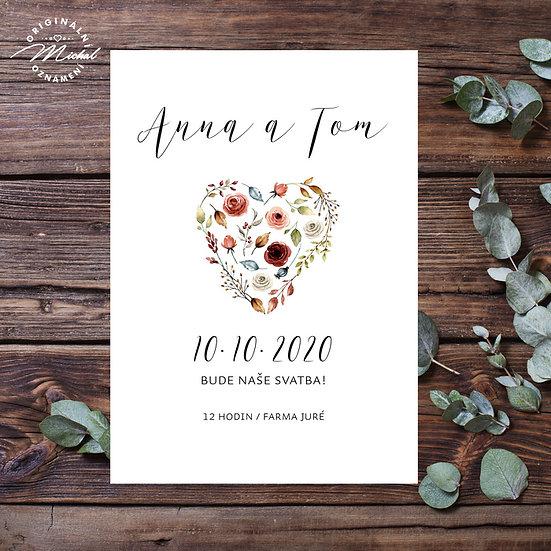 Svatební oznámení - TYP 328