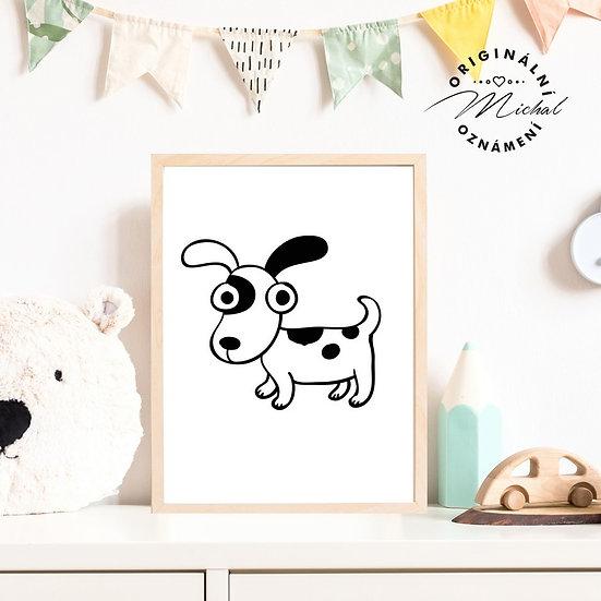 Plakát pes pejsek posluchač