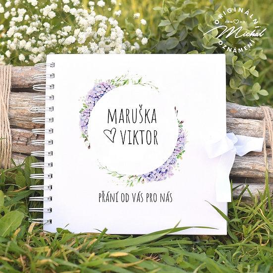 Svatební kniha hostů v pevných knižních deskách - 86