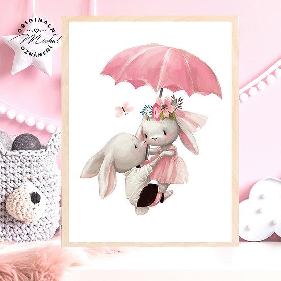 Plakát králíčci Květa a Eda