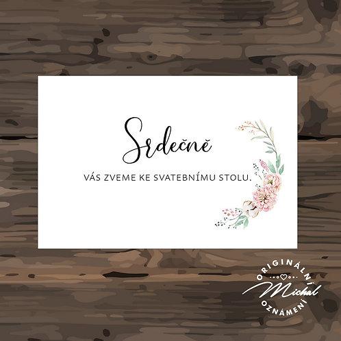 Pozvánka ke svatebnímu stolu - TYP 290