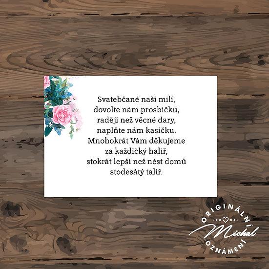 Žádost o dary - TYP 185