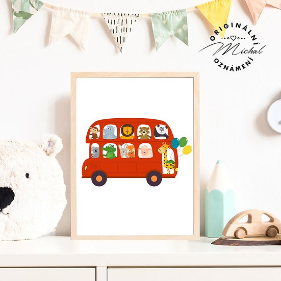 Plakát autobus kluci