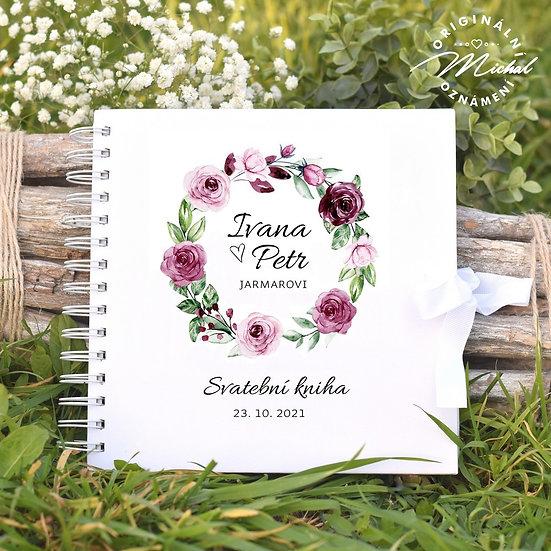 Svatební kniha hostů v pevných knižních deskách - 71
