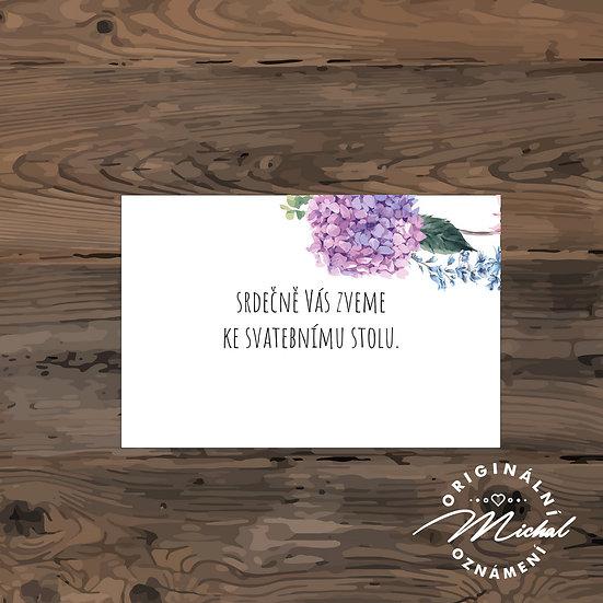 Pozvánka ke svatebnímu stolu - TYP 171